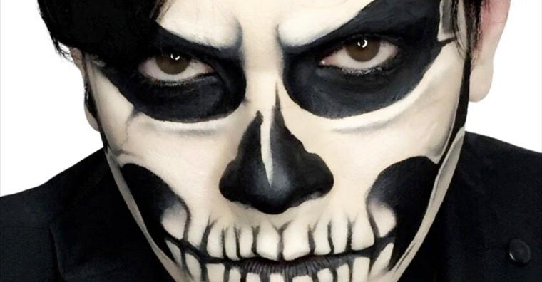 costumi halloween scheletro
