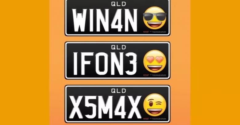 Emoji targa macchina