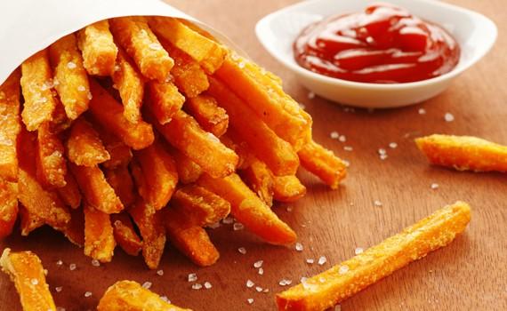 Porzione patatine fritte