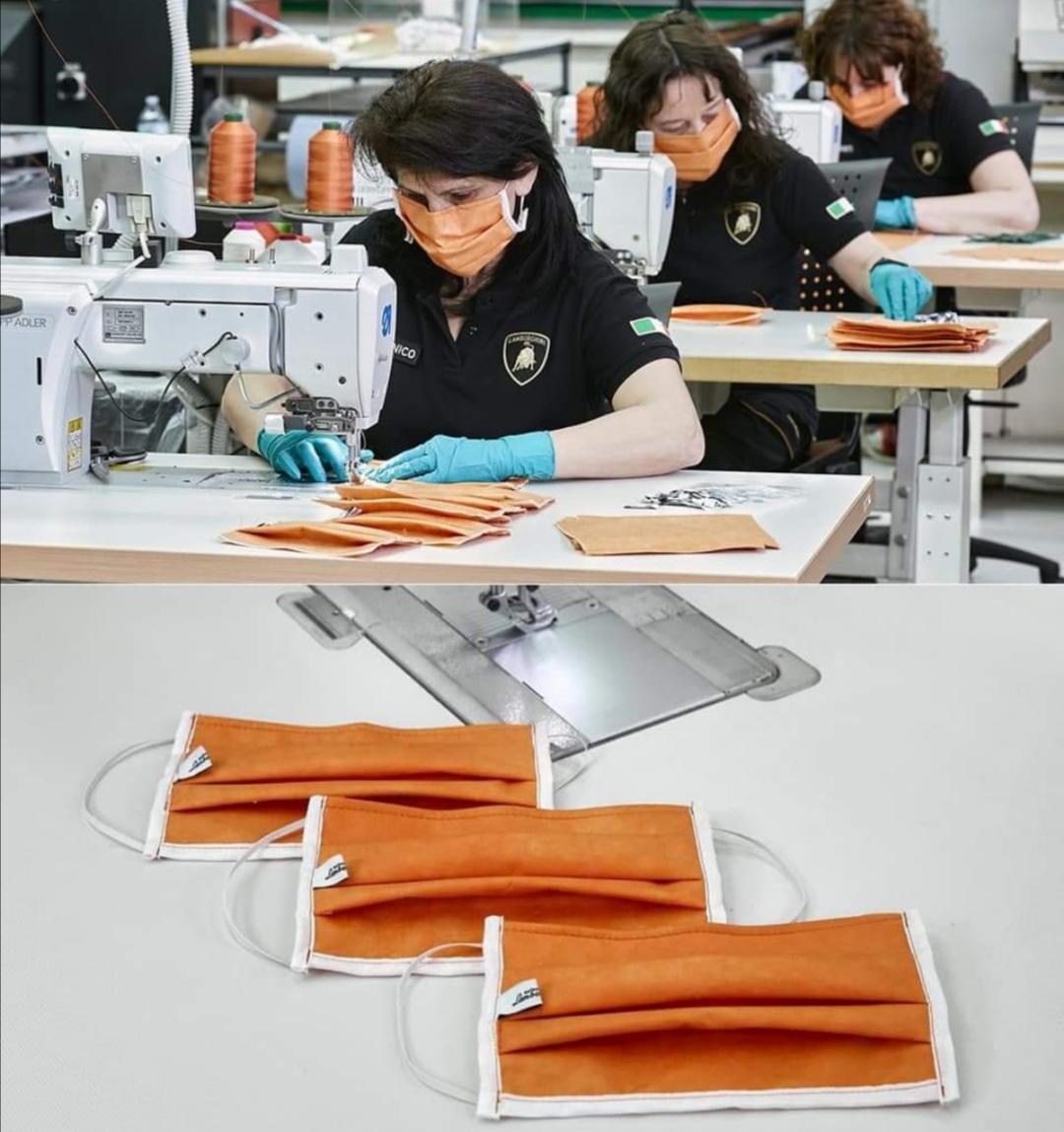lamborghini produzione mascherine