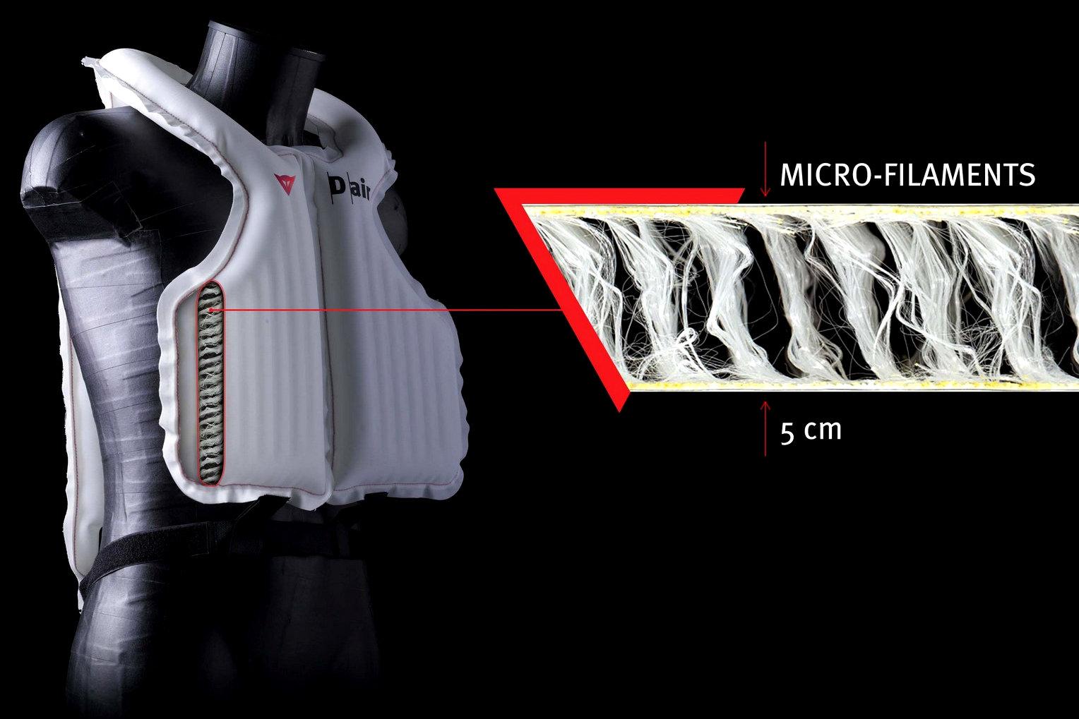 moto airbag tecnologia protezione caduta