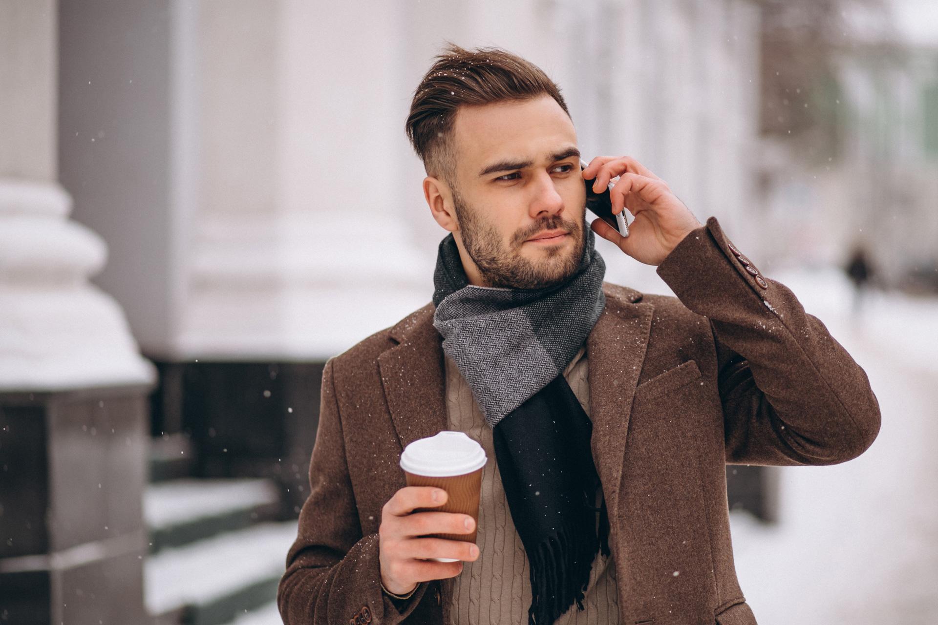 Come indossare sciarpa uomo