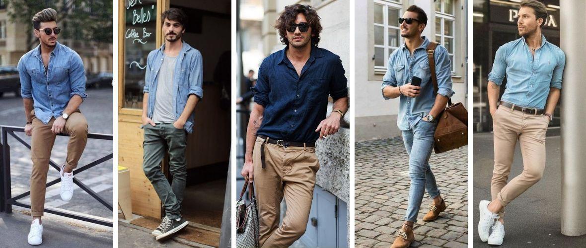 Abbinare camicia jeans uomo